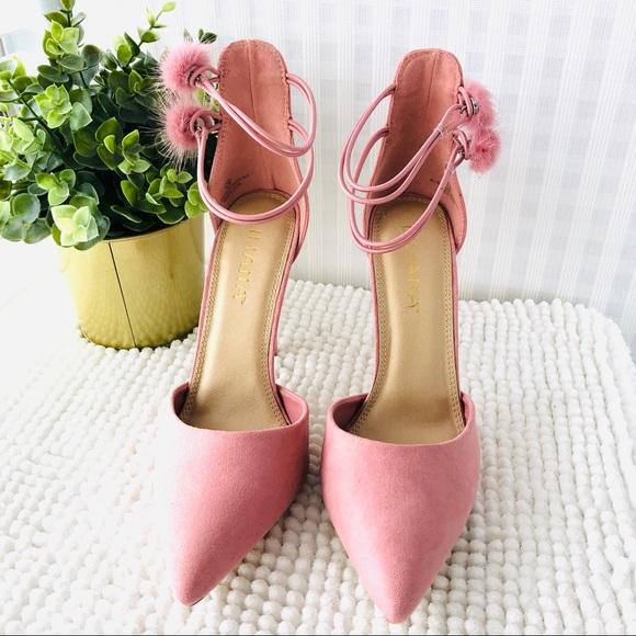 f32d9bd30 Liliana Shoes | Pointy Toe Pumps Dusty Rose With Pop Pom | Poshmark
